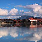 Winters Day Lake Tuggeranong Canberra  no 5 by Kym Bradley