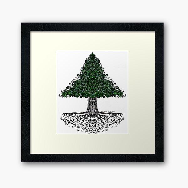 Loving Pine Framed Art Print