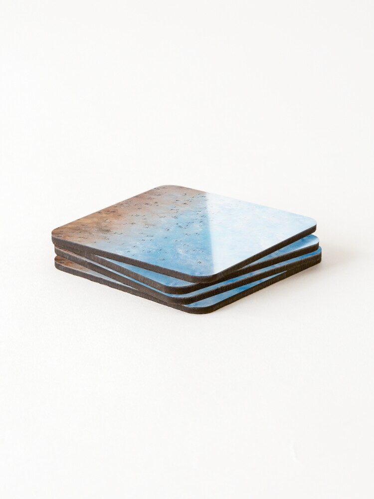 Alternate view of Along Fistral Beach, Newquay Cornwall Art Coasters (Set of 4)