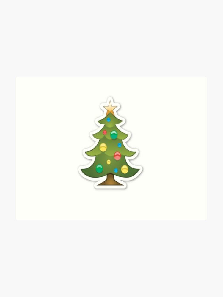 Christmas Tree Emoji.Christmas Tree Emoji Christmas Art Print