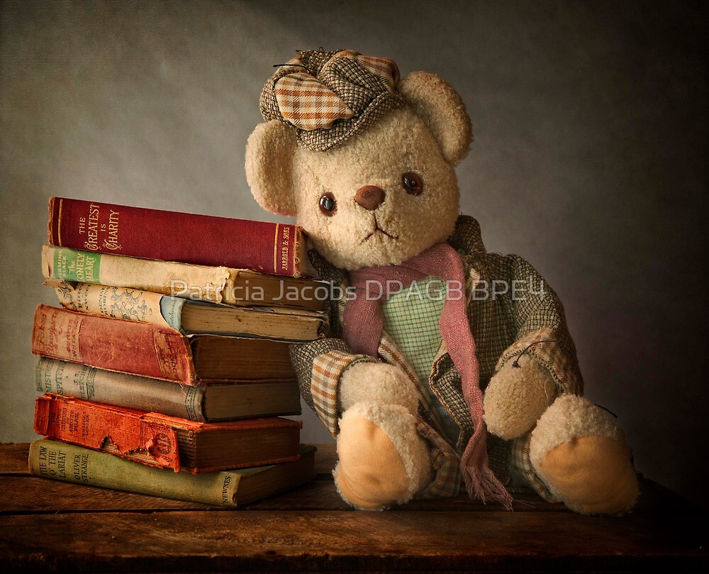 Teddy with Books by Patricia Jacobs DPAGB BPE4