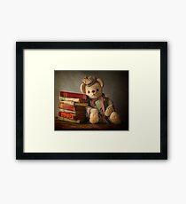 Teddy with Books Framed Print