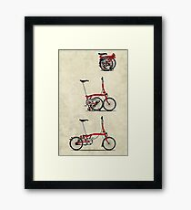 I Love My Folding Brompton Bike Framed Print