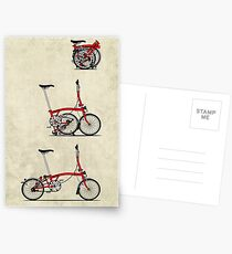 I Love My Folding Brompton Bike Postcards