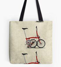 I Love My Folding Brompton Bike Tote Bag