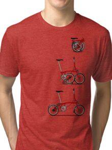 I Love My Folding Brompton Bike Tri-blend T-Shirt