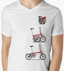 I Love My Folding Brompton Bike Men's V-Neck T-Shirt