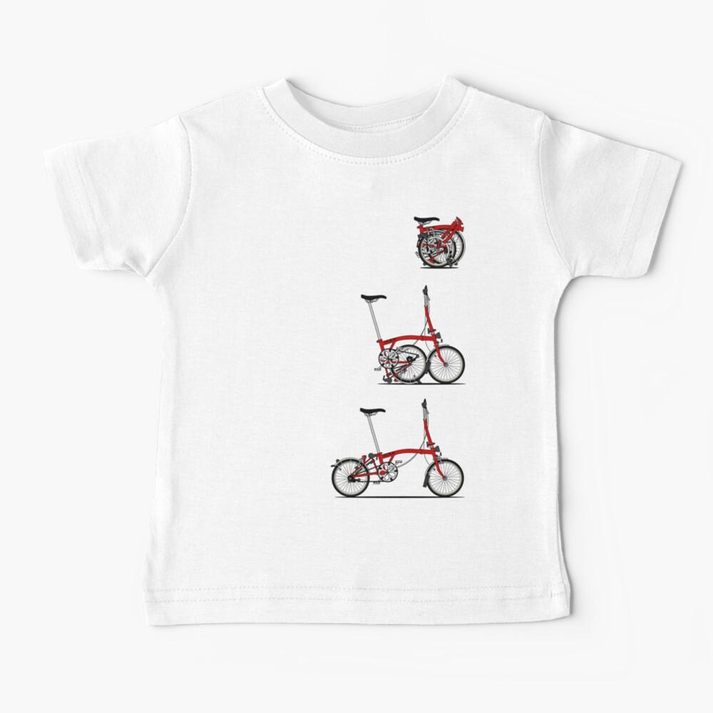 I Love My Folding Brompton Bike Baby T-Shirt