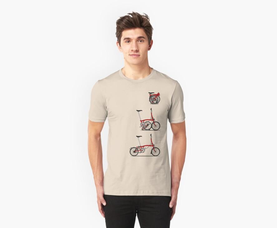 I Love My Folding Brompton Bike by Andy Scullion