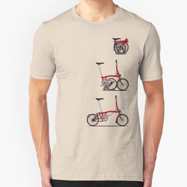 I Love My Folding Brompton Bike Slim Fit T-Shirt