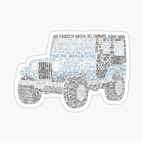 Stiles Stilinski Quotes Jeep Glossy Sticker