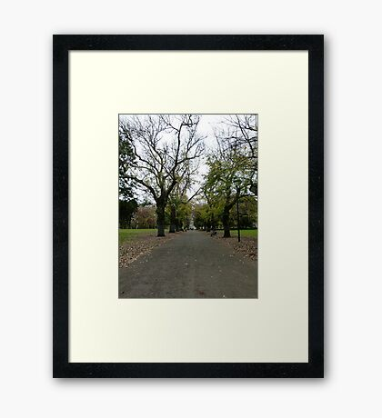 Long Way to the Exhibition Framed Print