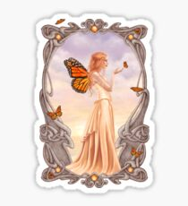 Citrine Birthstone Fairy Sticker