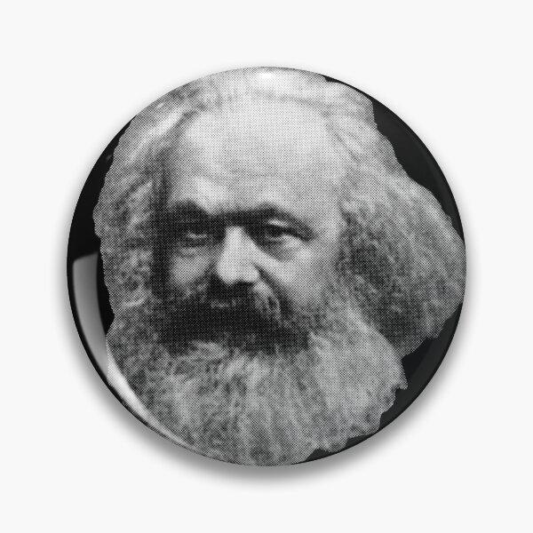 Karl Marx Floating Head Pin