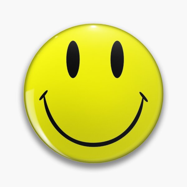 Smiley Face Happy Yellow Emoji  Pin