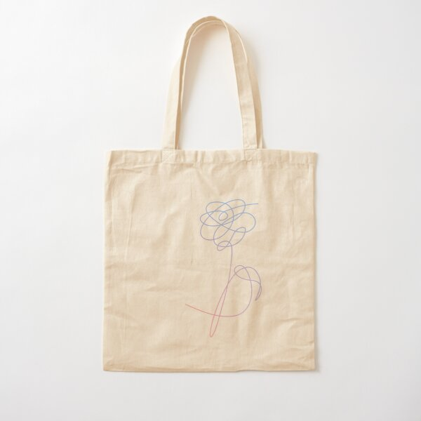 BTS Love Yourself Flower Cotton Tote Bag
