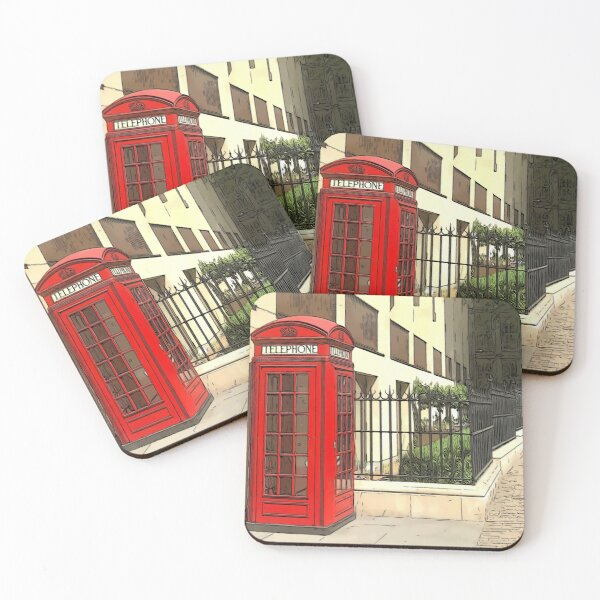 red telephone box in London  Coasters (Set of 4)