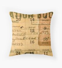 Ration Booklet Collage - World War II Throw Pillow
