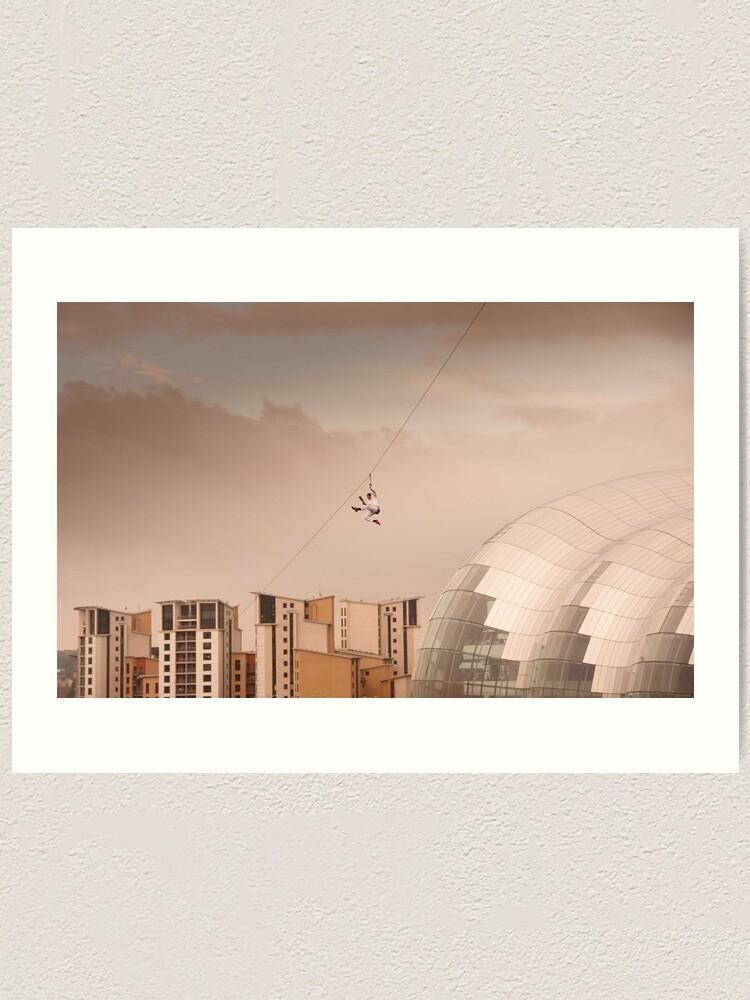 Alternate view of Zip Wire - Bear Grylls Art Print