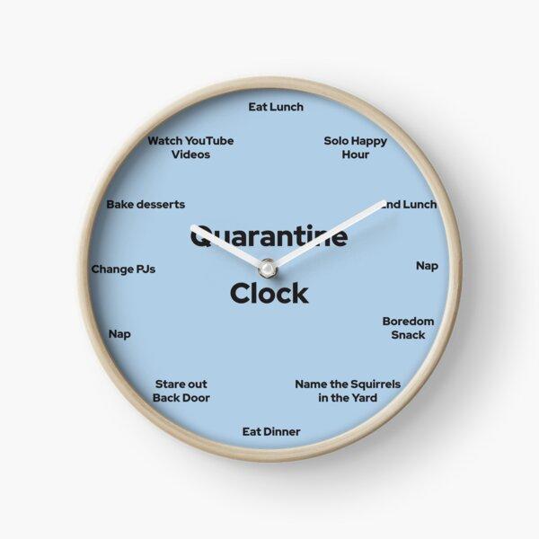 Horloge de quarantaine drôle Horloge