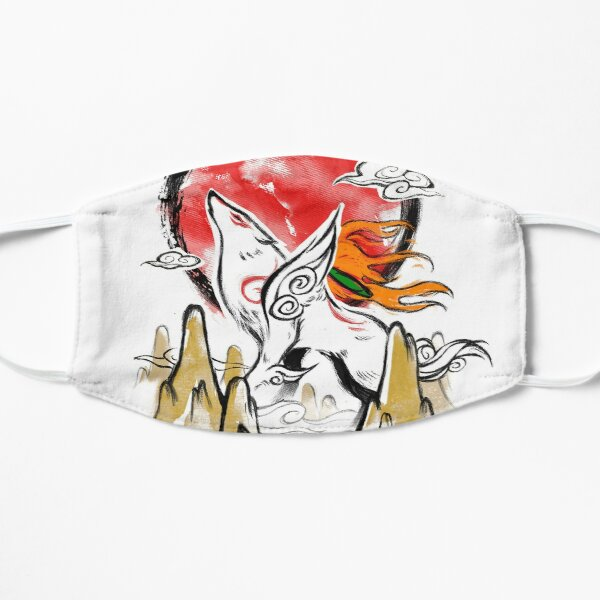 Okami Video Game - Beautiful Watercolor Illustration - Wolf God Mask