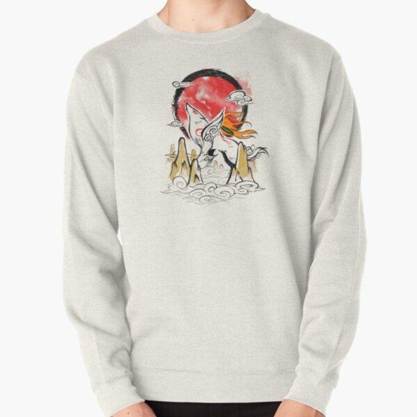 Jeu vidéo Okami - belle illustration aquarelle - dieu loup Sweatshirt épais