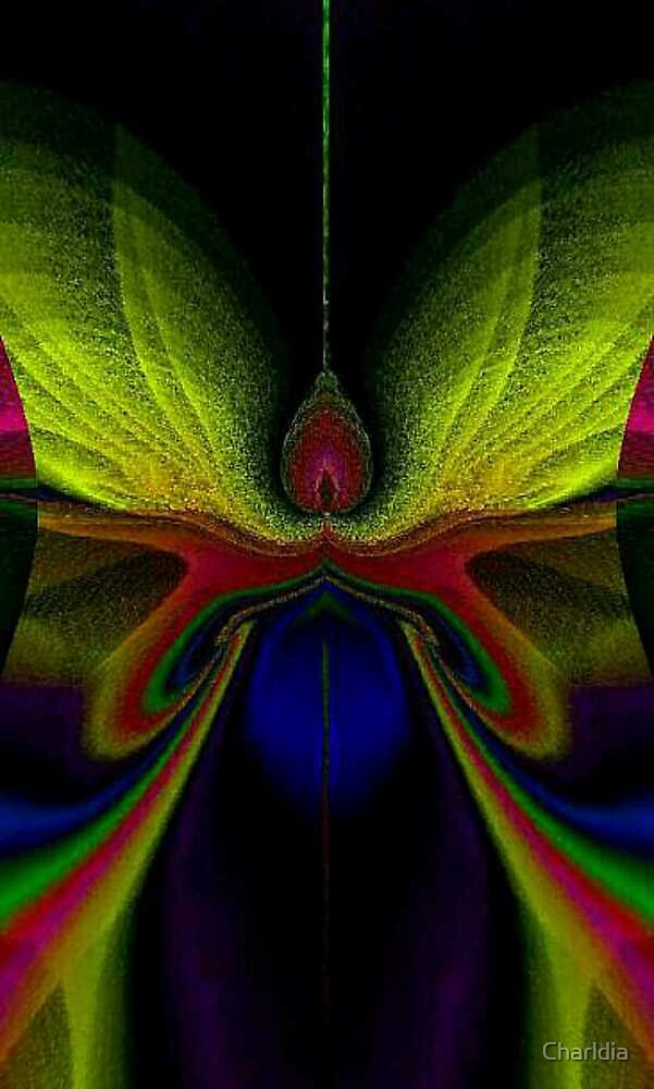 Mythical Fantasies: Rainbow Moth by Charldia