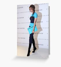 Victoria Beckham At Holt Renfrew Vancouver Greeting Card