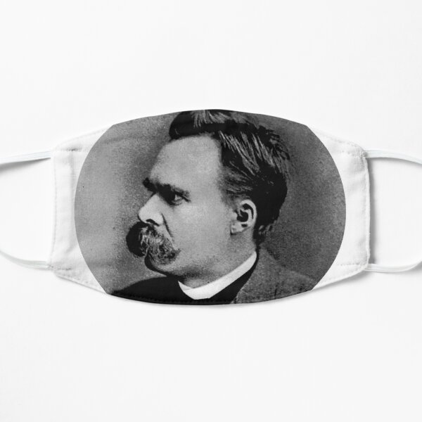 Friedrich Nietzsche sticker Mask