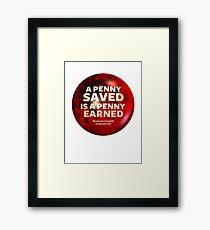 ECONOMICS & MONEY Framed Print
