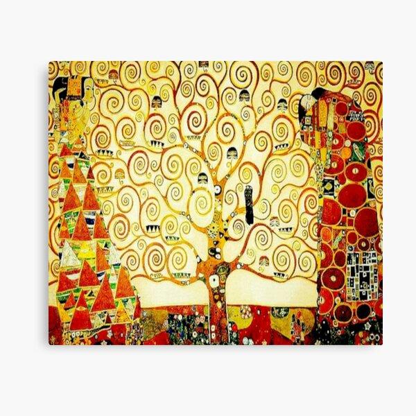 """The Tree of Life"" by Gustav Klimt | Art Nouveau Symbolism Canvas Print"