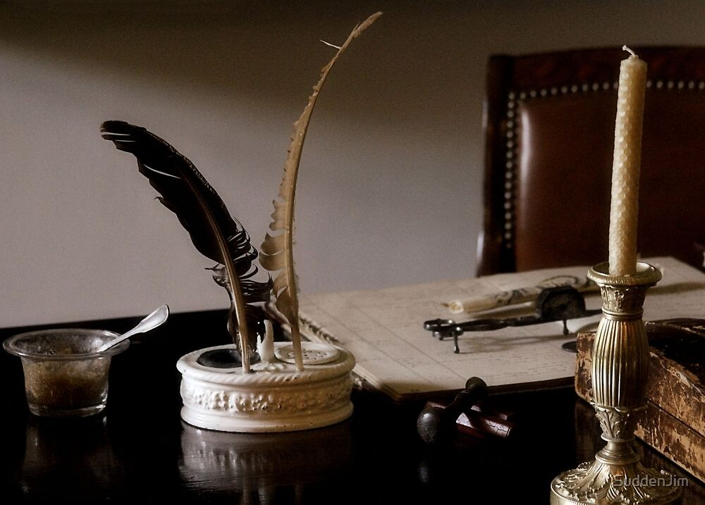 Quill Pen And Desk by SuddenJim