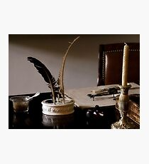 Quill Pen And Desk Photographic Print