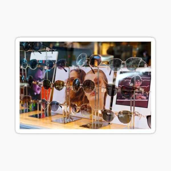 Glasses in Chinatown New York Sticker