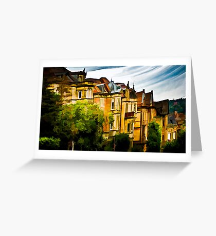 The Town Houses Greeting Card