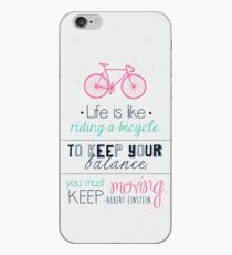 Life is like riding a bicycle iPhone Case