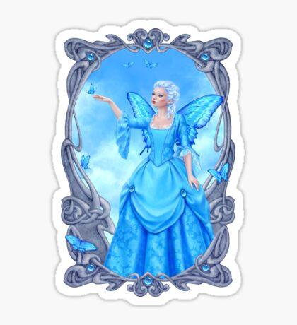 Blue Topaz Birthstone Fairy Sticker