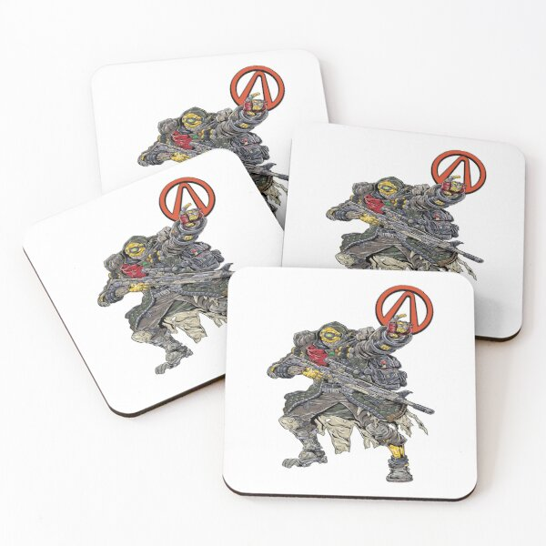 FL4K The Beastmaster Vault Symbol Borderlands 3 Rakk Attack! Coasters (Set of 4)