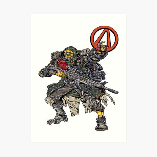 FL4K The Beastmaster Vault Symbol Borderlands 3 Rakk Attack! Art Print