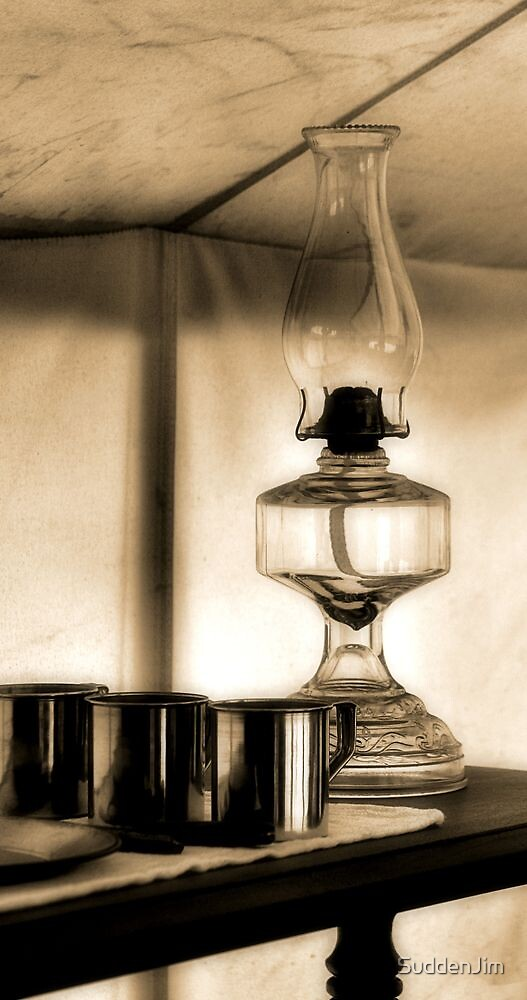 Oil Lamp In Tent by SuddenJim