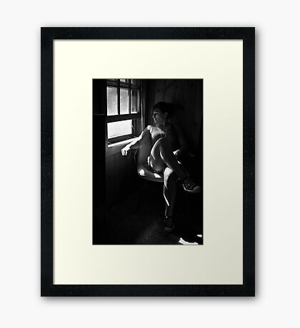 Need of Relief, self portrait Framed Print