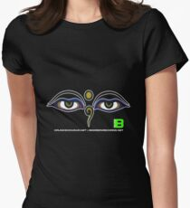 Crunk Eco Wear | Be Green Records Merch | Buddha Eyes 11 Women's Fitted T-Shirt