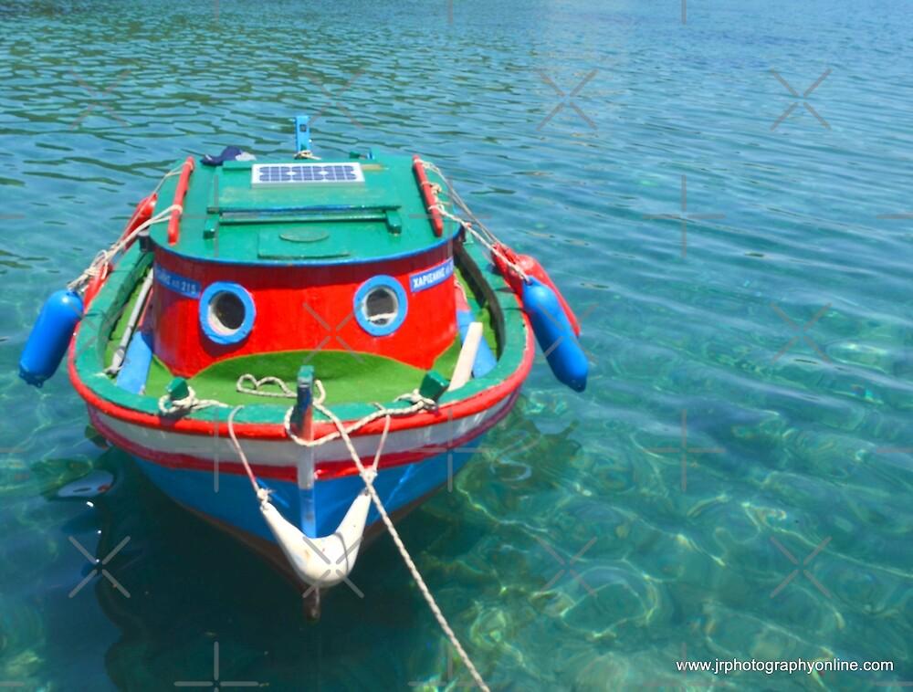 Little happy boat  Gaios in Paxos Greece  by fruitcake