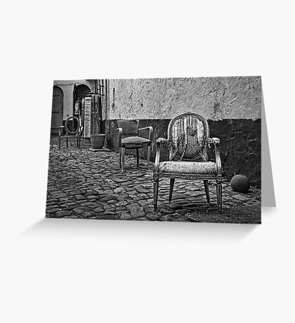 Vintage Chairs Greeting Card