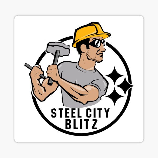 Steel City Blitz Alternate Logo Sticker