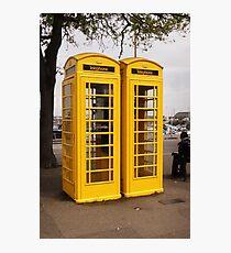 Telephone Yellow! Photographic Print