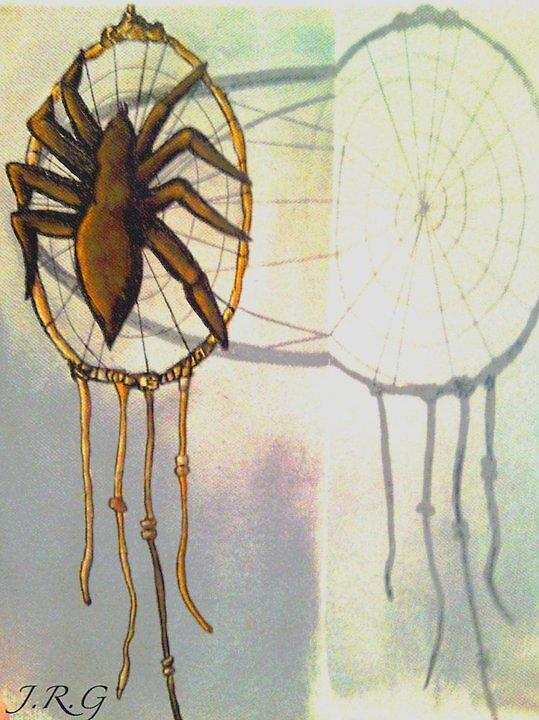 Spider Dream Catcher by VexedArt