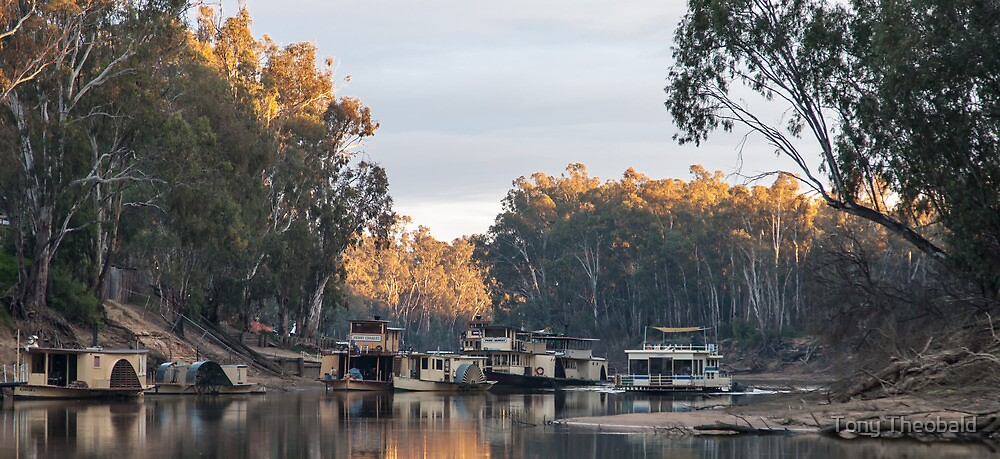Murray River at Echuca Victoria Australia by Tony Theobald