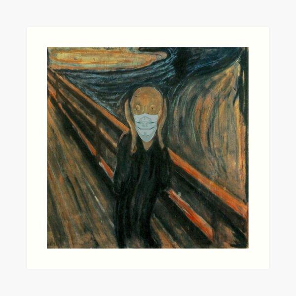 The Scream Masked Art Print