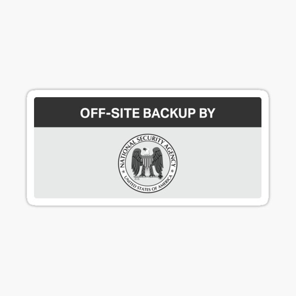 NSA - Off-Site Backup Sticker